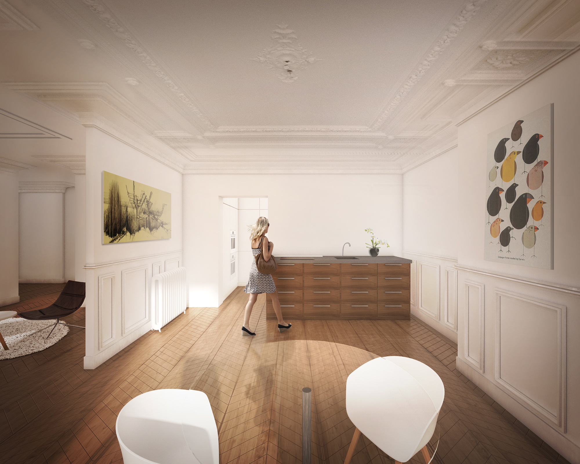 renovation appartement paris renderstorm. Black Bedroom Furniture Sets. Home Design Ideas